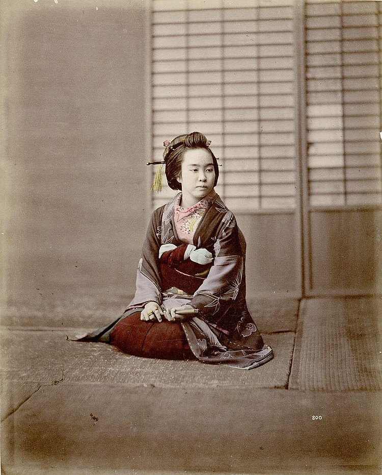 Stillfried-Ratenicz, Baron Raimund von: Geisha with fan
