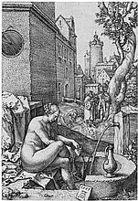 Aldegrever, Heinrich: Susanna im Bade