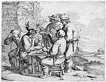 Both, Andries: Die betrunkenen Bauern am Tisch