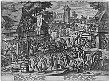 Borcht, Peeter van der: Der Jahrhmarkt der Sankt-Sebastiansgilde
