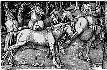 Baldung, Hans: Die sechs Pferde