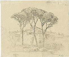 Hess, Peter von: Pinien bei Castel Gandolfo