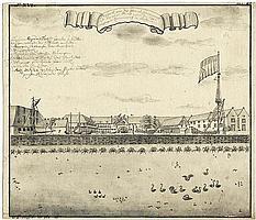 Heydt, Johann Wolfgang: Schiffswerft in Batavia (Djakarta) auf Java