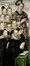 Süddeutsch: 2. Hälfte 16. Jh. Der hl. Laurentius mit Stiftern