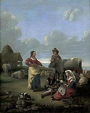 Haarlemer Schule: 17. Jh. Rastende Hirten in der Campagna