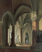 Pian, Antonio de: Innenansicht eines gotischen Kirchenraums
