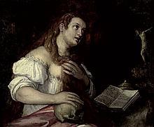 Venezianisch: letztes Viertel 16. Jh. letztes Viertel 16. Jh. Die hl. Maria Magdalena in der Buße