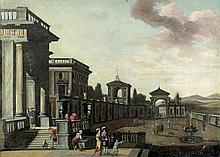 Saeys, Jakob Ferdinand: Barocke Palastanlage mit Staffage
