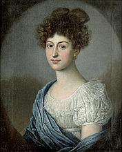 Tischbein, Johann Friedrich August - Umkreis: Bildnis einer jungen Frau