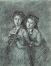 Nanteuil-Lebaeuf, Célestin François: Zwei Schwetsern, in die Lektüre vertieft