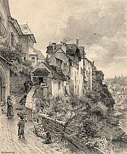 Darnaut, Hugo: Österreichisches Dorf an einem Fluss