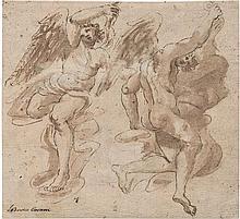 Bolognesisch: 17. Jh. Zwei Engelfiguren