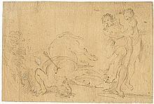 Carpioni, Giulio: Umkreis. Gestürtzter und vom Pfeil getroffener Kentaur