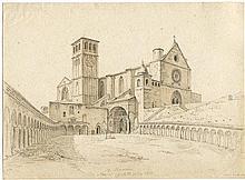 Busse, Georg Heinrich: Blick auf San Francesco in Assisi