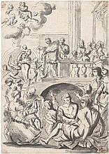 Flämisch: 17. Jh. Der hl. Ignatius von Loyola, die Kranken heilend