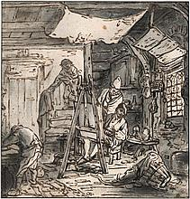 Dusart, Cornelis: Die Malerwerkstatt