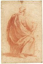 Florentinisch: 17. Jh. Sitzender Jüngling in Rückenansicht