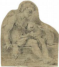 Florentinisch: 17. Jh. Johannesknabe mit dem Lamm