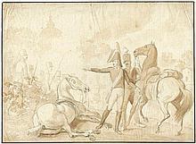 Adam, Albrecht: Eugène de Beauharnais  mit seinem Adjutanten bei Zvenigorod