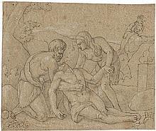 Eberhard, Konrad: Adam und Eva beweinen den toten Abel