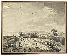 Klengel, Johann Christian: Landschaft bei Dresden mit Landvolk
