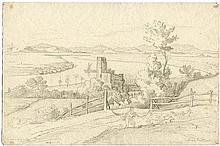 Wittmer, Johann Michael: Der Tiber bei Aqua Acetosa mit dem Torre di Quinto