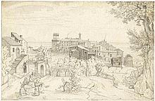 Wittmer, Johann Michael: Blick auf Lanuvio in den Albaner Bergen