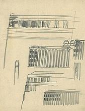 Poelzig, Hans: Großes Schauspielhaus Berlin, Fassadenstudien Licht und Schatten