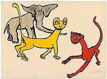 Calder, Alexander: Two cats and an elephant