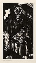 Campendonk, Heinrich: Sitzender Mann mit Katze auf dem Schoß