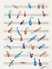 Arman: Portées musicales