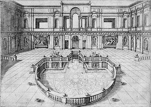 Cock, Hieronymus Die Fassade der Villa Giulia,