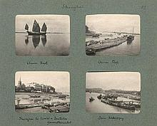 China: Part of a German travel album showing Hong Kong, Shanghai and other cities