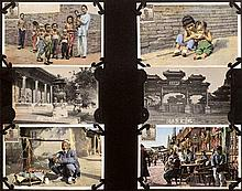 China: Postcard album with views of China and Japan
