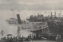China: Documentation album of the Hong Kong typhoon 1906