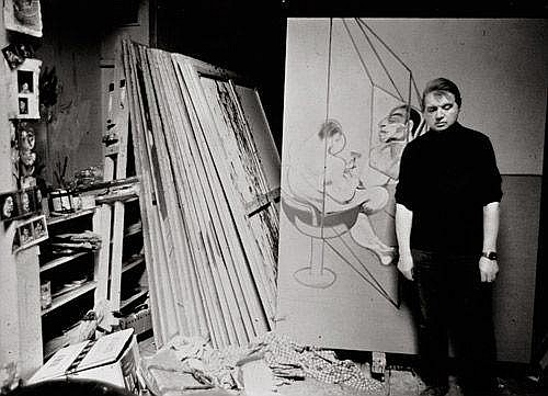 Bacon, Francis: Francis Bacon in his Kensington studio, London