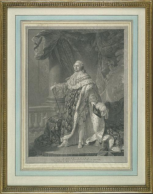Bervic, Charles Clérment: Bildnis Ludwig XVI. im Krönungsornat