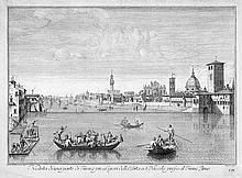 Zocchi, Giuseppe: Veduta di una parte di Firenze
