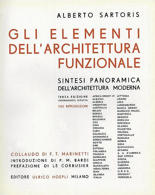 Sartoris, Alberto: Gli Elementi dell'Architettura funzionale