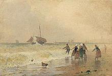 Caffieri, Hector: Bretonische Fischer beim Einholen der Boote