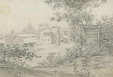 """Benouville, Jean-Achille: Ansicht des """"Casino Nobile di Vigna Virgili"""" in der Villa Borghese"""