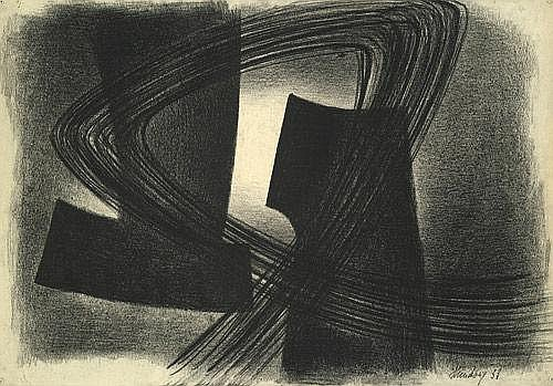 Hündeberg, HOM Jürgen von: Rhythmische Komposition (Charcoal drawing II)
