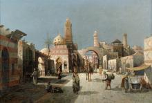 Siegen, August von: Straßenszene in Kairo