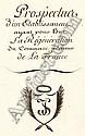 Sagory, J.: Prospectus d'un etabilssement. Hands. 1808