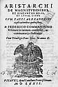 Aristarchos von Samos: De magnitudinibus, et distantiis solis