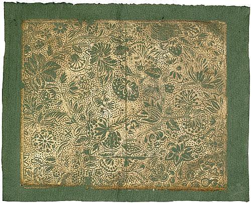 Munck, Johann Carl: Stilisierte Blumen. Brokatpapier. Augsburg 1780