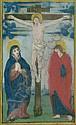 Kreuzigung: Einzelblatt aus einem Stundenbuch. Um 1450