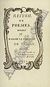 Recueil de poésies : dédié à Madame la Marquise de Vassan. 1757