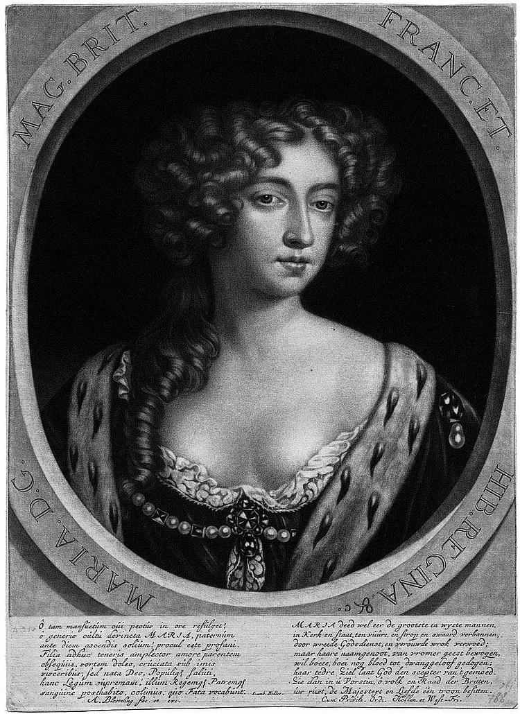 Blooteling, Abraham: Maria Stuart, Königin von England