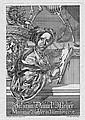 Meyer, Johann Daniel: Selbstbildnis mit Zeichenmappe, Johann Daniel (1713) Meyer, Click for value
